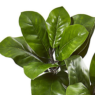 """Nearly Natural  35"""" Magnolia Leaf Artificial Spray Plant (Set of 3), , rollover"""