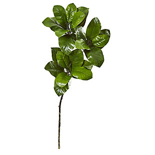 """Nearly Natural  35"""" Magnolia Leaf Artificial Spray Plant (Set of 3), , large"""