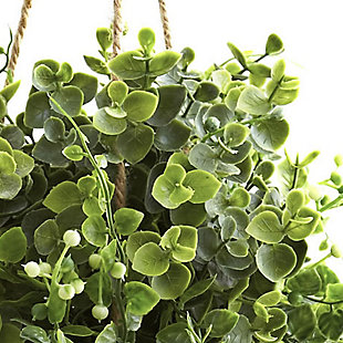Nearly Natural  Eucalyptus, Maiden Hair & Berry Hanging Basket (Set of 3), , rollover