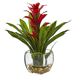 Nearly Natural  Bromeliad with Vase Arrangement, , large