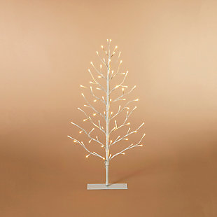 Gerson 3 Ft. Electric 2-D Tree with Warm White LED Lights, , large