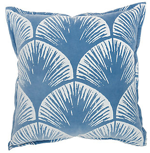 "Nourison Mina Victory 18"" x 18"" Throw Pillow, Blue, large"