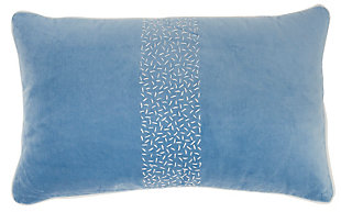 "Nourison Mina Victory 12"" x 20"" Throw Pillow, Blue, large"
