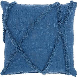 """Nourison 18"""" x 18"""" Throw Pillow, Blue, large"""
