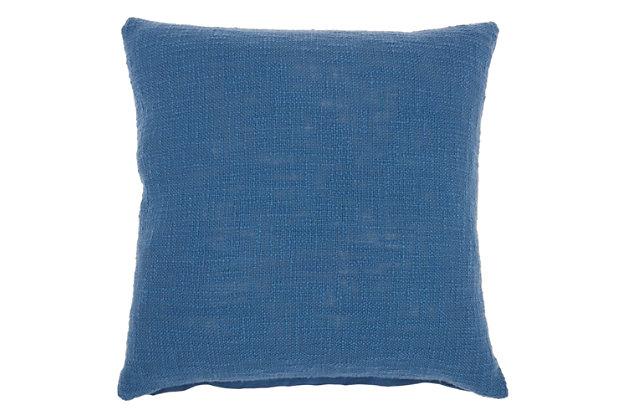 "Nourison Mina Victory 18"" x 18"" Throw Pillow, Blue, large"