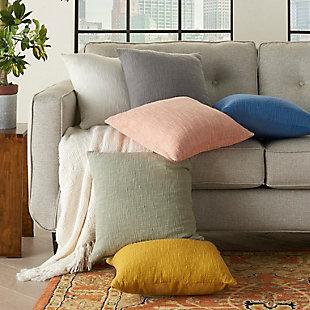 "Nourison Mina Victory 18"" x 18"" Throw Pillow, Blush, large"