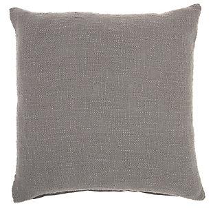 "Nourison Mina Victory 18"" x 18"" Throw Pillow, Gray, large"