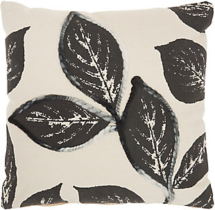 "Nourison Mina Victory 20"" x 20' Throw Pillow, Charcoal, large"