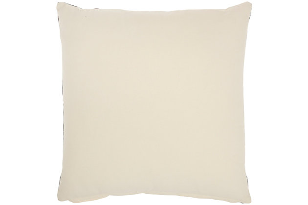 """Nourison Mina Victory 20"""" x 20' Throw Pillow, Charcoal, large"""