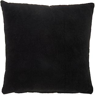 "Nourison Mina Victory 16"" x 16"" Throw Pillow, Black, large"