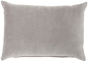 "Nourison Mina Victory 14"" x 20"" Throw Pillow, Gray, large"