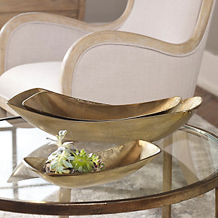 Truly Calm Anas Antique Brass Bowls (Set of 3), , rollover