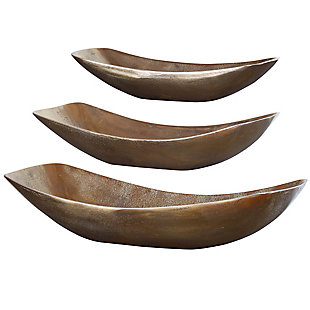 Truly Calm Anas Antique Brass Bowls (Set of 3), , large