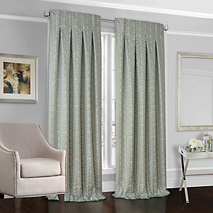 Softline Peyton Lined Curtain, Kenney Rod & Chicology Roman Shade Bundle