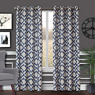Ryder Ryder Lined Grommet Top Curtain Panel, Slate, large