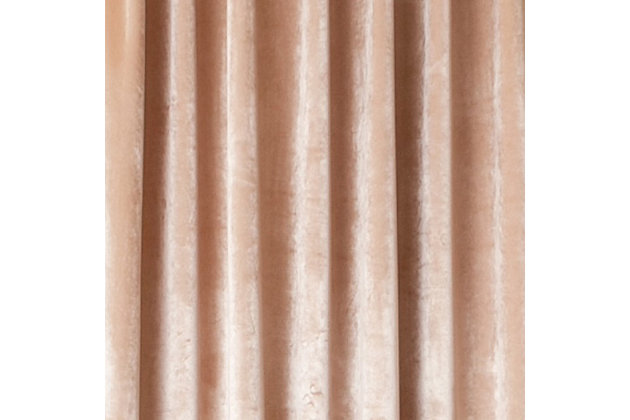 Tantra Tantra Velvet Lined Curtain Panel, Flax, large