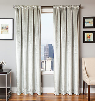 Softline Tantra Velvet Lined Curtain, Kenney Rod & Chicology Roller Shade Bundle