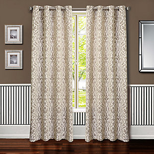 Allure Allure Heritage Lined Curtain Panel, Linen, rollover