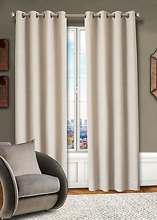 Allure Allure Diamond Lined Curtain Panel, Natural, rollover