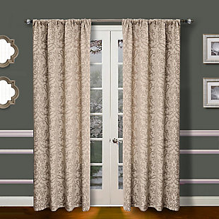 Allure Allure Royal Lined Curtain Panel, Linen, rollover