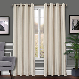 Allure Allure Stripe Lined Curtain Panel, Sage, rollover