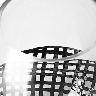 Mercana  Small Black Woven Metal Base Table Candle Holder, , large