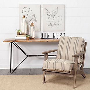 """Mercana  """"Our Nest"""" 23.6"""" Wide Black Metal Sign, , rollover"""