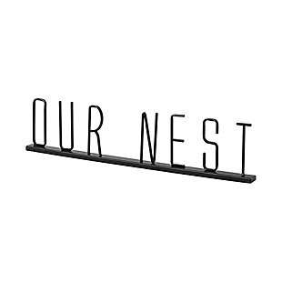 """Mercana  """"Our Nest"""" 23.6"""" Wide Black Metal Sign, , large"""