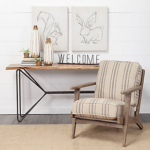 "Mercana  ""Welcome"" 24.3"" Wide Black Welcome Sign, , rollover"