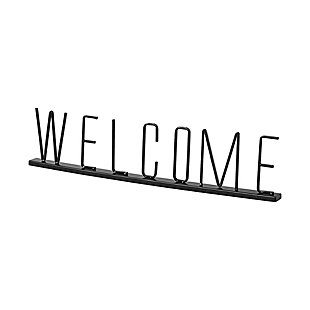 "Mercana  ""Welcome"" 24.3"" Wide Black Welcome Sign, , large"