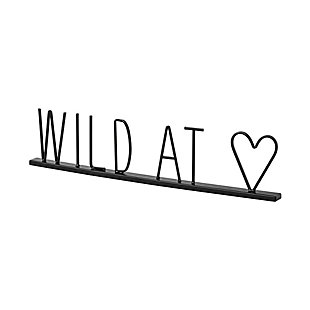 """Mercana  """"Wild At Heart"""" 23.9 Wide Black Metal Sign, , large"""