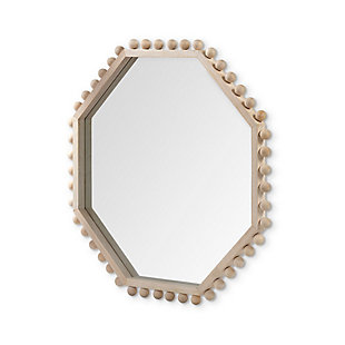 "Mercana  32"" Octagon Natural Wood Frame Mirror, , large"