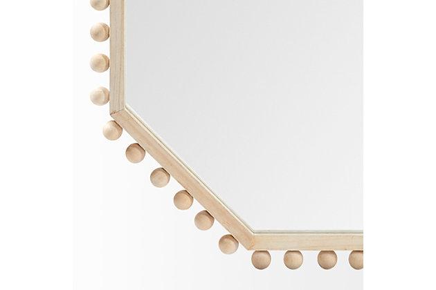 "Mercana  32"" Octagon Natural Wood Frame Mirror, , large"