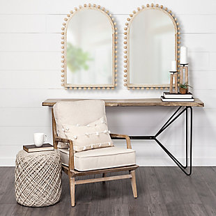 Mercana  22X35 Arch Natural Wood Frame Mirror, , rollover
