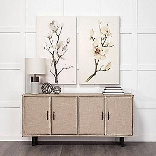 "Mercana  (Small) (4.8"") Cast Aluminum Decorative Tree Branch Orb In Rustic Silver, , rollover"