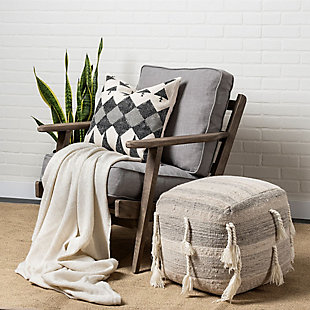 Olympus  Flint Gray Fabric Covered Wooden Frame Accent Chair, , rollover