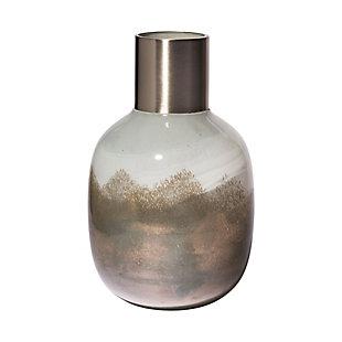 Mercana Short Gradient Blue Glass Gourd Style Vase, , large