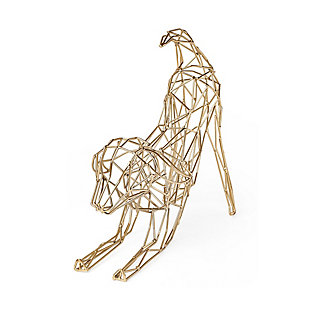 Mercana  Wire-Framed Dog Shaped Décor In Gold Finish, , large