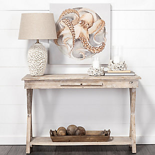 Claremont  16L X 47W X 30H Natural Wood Body W/Pull Out Ledge Console Table, , rollover