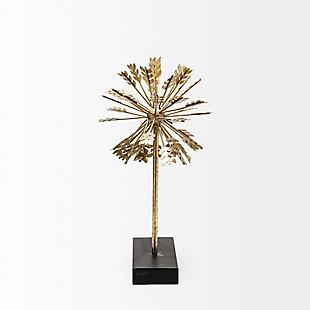 "Mercana  (15.7""H) Gold Metal Decorative Sculputure, , rollover"