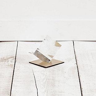 Mercana Small Glass Cube Sculpture, , rollover