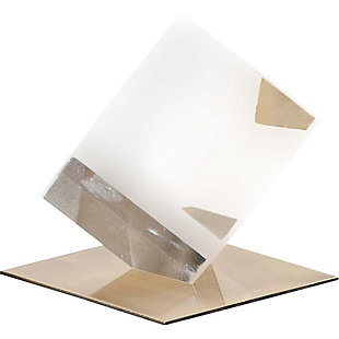 Mercana Small Glass Cube Sculpture, , large