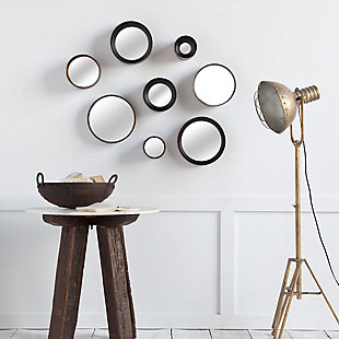 Mercana Brown Metal Mirrors (Set of 8), , rollover