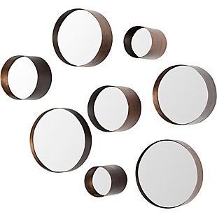 Mercana Brown Metal Mirrors (Set of 8), , large