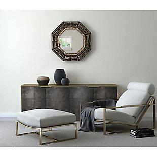 "Aztec Wood 30""x30"" Wall Mirror, , rollover"