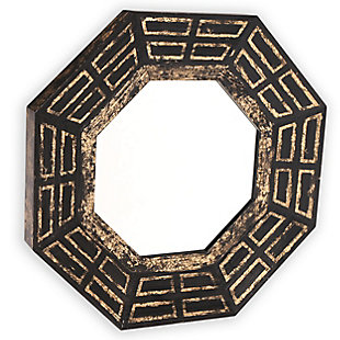 "Aztec Wood 30""x30"" Wall Mirror, , large"