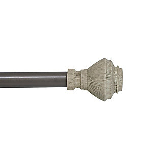 """Kenney Kenney® Fast Fit™ Campbell 5/8"""" Easy Install Decorative Window Curtain Rod, 36-66"""", Beachwood, Beige, rollover"""