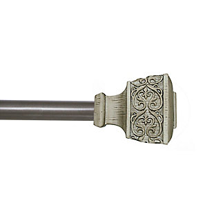 "Kenney Kenney® Fast Fit™ Lillian 5/8"" Easy Install Decorative Window Curtain Rod, 36-66"", Beachwood, Beige, rollover"