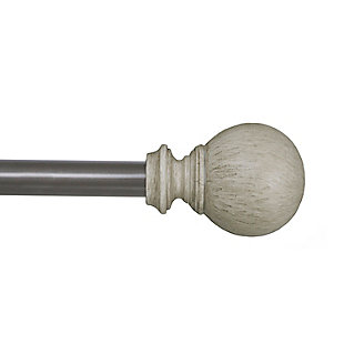 "Kenney Kenney® Fast Fit™ Pearson 5/8"" Easy Install Decorative Window Curtain Rod, 36-66"", Beachwood, Beige, rollover"