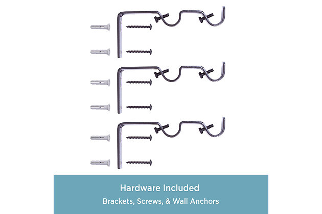 """Kenney Kenney® 5/8"""" Diameter Double Rod Conversion Kit, 42-120"""", Oil Rubbed Bronze, Bronze, large"""